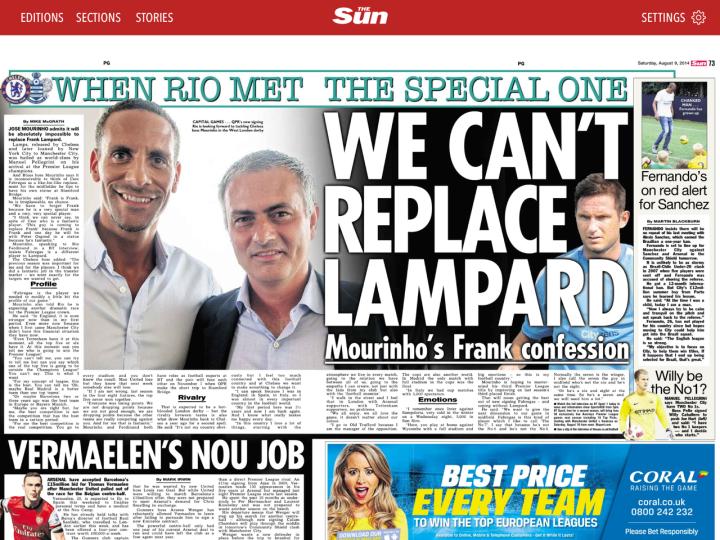 Ferdinand-Mourinho_BT coverage
