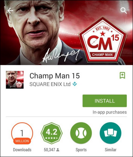 Wenger - Champ Man