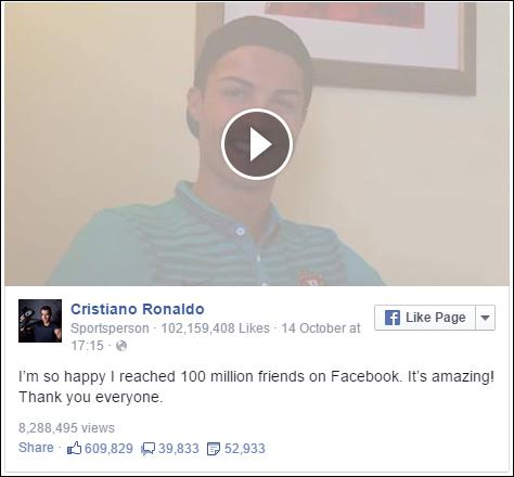 Cristiano Ronaldo -100m