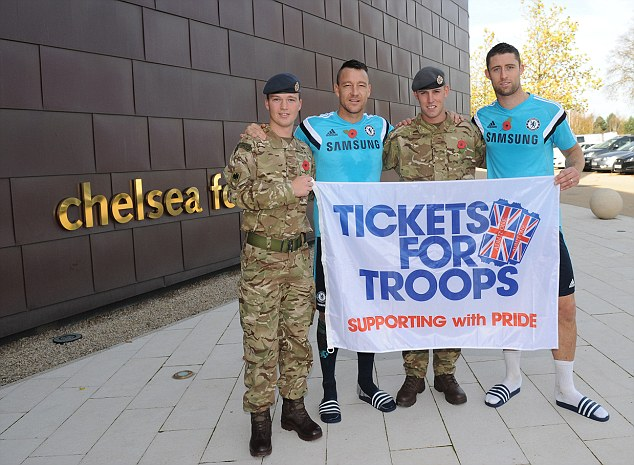 John Terry - Tickets for troops2