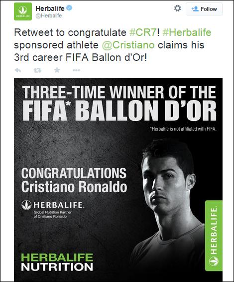Cristiano_Herbalife_tweet