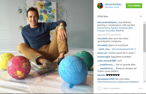 Del Piero_Vespa_Instagram
