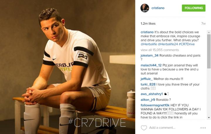 Cristiano_Instagram_Herbalife