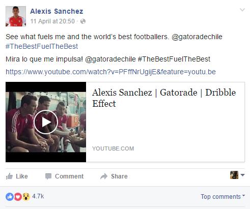 Alexis Sánchez - Gatorade