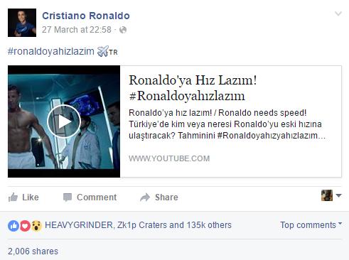 facebook CR7 - Turk Telekom