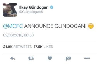 Gundogan tweet