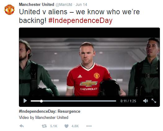 ManU - Independence Day - tweet