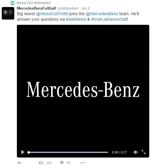 Mesut Ozil_Mercedes_Twitter