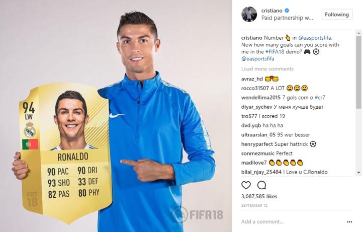 Cristiano Ronaldo_Fifa18